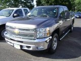 2013 Mocha Steel Metallic Chevrolet Silverado 1500 LT Crew Cab 4x4 #69523269
