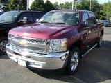 2013 Deep Ruby Metallic Chevrolet Silverado 1500 LT Crew Cab #69523264