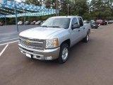2013 Silver Ice Metallic Chevrolet Silverado 1500 LT Crew Cab 4x4 #69523961