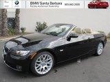 2009 Jet Black BMW 3 Series 328i Convertible #69592386