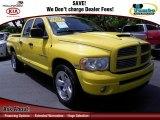 2004 Solar Yellow Dodge Ram 1500 SLT Quad Cab #69592603