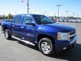 2010 Laser Blue Metallic Chevrolet Silverado 1500 LT Crew Cab 4x4 #69622461