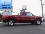 2013 Deep Ruby Metallic Chevrolet Silverado 1500 LT Extended Cab 4x4 #69622208
