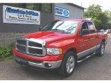 2004 Flame Red Dodge Ram 1500 SLT Quad Cab #69622332