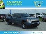 2010 Blue Granite Metallic Chevrolet Silverado 1500 LS Crew Cab 4x4 #69658396