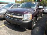 2008 Dark Cherry Metallic Chevrolet Silverado 1500 LS Crew Cab 4x4 #69657503