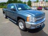 2013 Blue Granite Metallic Chevrolet Silverado 1500 LT Crew Cab 4x4 #69728072