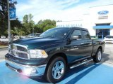 2011 Hunter Green Pearl Dodge Ram 1500 Big Horn Quad Cab #69727661