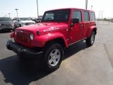 2012 Flame Red Jeep Wrangler Unlimited Rubicon 4x4 #69727902