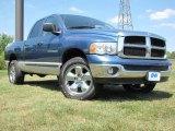 2004 Atlantic Blue Pearl Dodge Ram 1500 SLT Quad Cab 4x4 #69792035