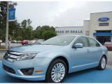 2010 Light Ice Blue Metallic Ford Fusion Hybrid #69791787