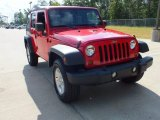 2012 Flame Red Jeep Wrangler Unlimited Sport S 4x4 #69792255
