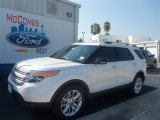 2013 White Platinum Tri-Coat Ford Explorer XLT #69791721