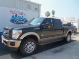 2012 Tuxedo Black Metallic Ford F250 Super Duty King Ranch Crew Cab 4x4 #69791706
