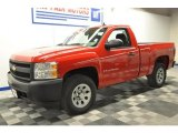 2008 Victory Red Chevrolet Silverado 1500 Work Truck Regular Cab 4x4 #69792177