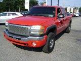2003 Fire Red GMC Sierra 2500HD SLE Crew Cab 4x4 #69791624
