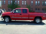 1999 Victory Red Chevrolet Silverado 1500 LS Extended Cab 4x4 #69791852