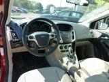 2012 Ford Focus SE Sedan Stone Interior