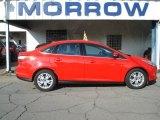 2012 Race Red Ford Focus SEL Sedan #69791798