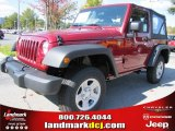 2012 Deep Cherry Red Crystal Pearl Jeep Wrangler Sport 4x4 #69841240