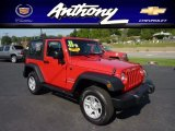 2011 Flame Red Jeep Wrangler Sport 4x4 #69841838
