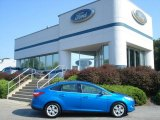 2012 Blue Candy Metallic Ford Focus SEL Sedan #69841101