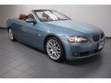 2009 Atlantic Blue Metallic BMW 3 Series 328i Convertible #69841476