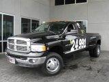2004 Black Dodge Ram 3500 Laramie Quad Cab 4x4 Dually #6955155