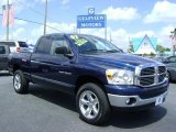 2007 Patriot Blue Pearl Dodge Ram 1500 SLT Quad Cab 4x4 #6958781
