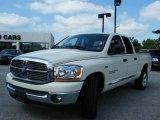 2007 Bright White Dodge Ram 1500 SLT Quad Cab #6958161