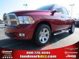2012 Deep Cherry Red Crystal Pearl Dodge Ram 1500 Laramie Longhorn Crew Cab 4x4 #69949299