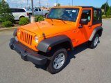 2012 Crush Orange Jeep Wrangler Sport 4x4 #69949655