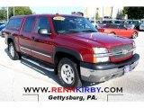 2004 Sport Red Metallic Chevrolet Silverado 1500 Z71 Crew Cab 4x4 #69997767