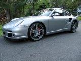 2007 GT Silver Metallic Porsche 911 Turbo Coupe #69997379