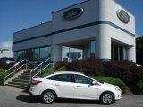 2012 White Platinum Tricoat Metallic Ford Focus SEL Sedan #69997354