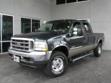 2004 Dark Green Satin Metallic Ford F250 Super Duty Lariat Crew Cab 4x4 #6955131
