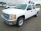 2013 Summit White Chevrolet Silverado 1500 LT Crew Cab 4x4 #69997889