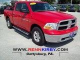 2012 Flame Red Dodge Ram 1500 SLT Quad Cab 4x4 #70081489