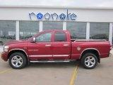 2007 Inferno Red Crystal Pearl Dodge Ram 1500 Laramie Quad Cab 4x4 #70081226