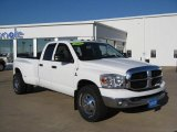 2007 Bright White Dodge Ram 3500 SLT Quad Cab Dually #70081225