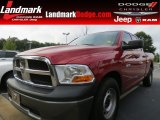 2010 Inferno Red Crystal Pearl Dodge Ram 1500 ST Quad Cab #70081212