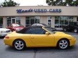 1999 Speed Yellow Porsche 911 Carrera Cabriolet #70081412