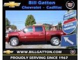 2013 Deep Ruby Metallic Chevrolet Silverado 1500 LT Crew Cab 4x4 #70081653