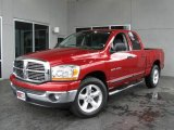 2006 Inferno Red Crystal Pearl Dodge Ram 1500 SLT Quad Cab #6955156