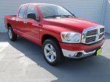 2007 Flame Red Dodge Ram 1500 SLT Quad Cab 4x4 #70081327