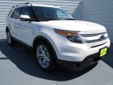 2013 White Platinum Tri-Coat Ford Explorer Limited #70081316