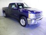 2013 Blue Topaz Metallic Chevrolet Silverado 1500 LT Extended Cab 4x4 #70133317
