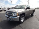 2013 Graystone Metallic Chevrolet Silverado 1500 Work Truck Regular Cab 4x4 #70133297