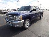2013 Blue Topaz Metallic Chevrolet Silverado 1500 LT Crew Cab 4x4 #70133296
