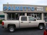 2008 Silver Birch Metallic Chevrolet Silverado 1500 LS Crew Cab #70133251